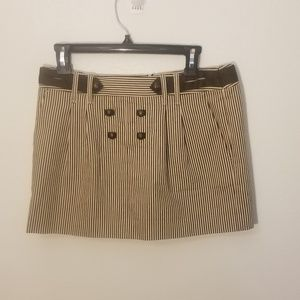 BCBG MaxAzria Tan & Brown Striped Skirt